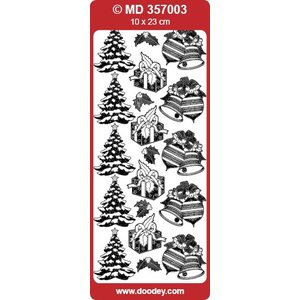 Sticker Gedetailleerde reliëf stickers, kerst motieven