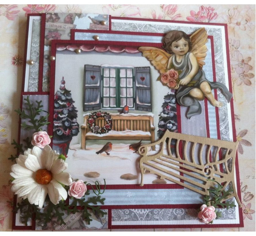 AMY DESIGN, Cutting and embossing stencils, nostalgic Bench