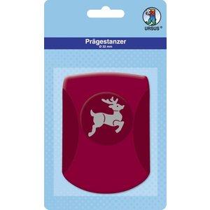 Locher / Stanzer Embossing Tanzer, approx 32mm, reindeer