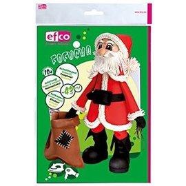 FOFUCHA Fofucha Santa Claus: opskæring ark + manuel + klistermærker