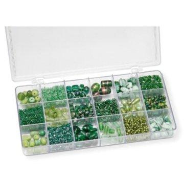 Schmuck Gestalten / Jewellery art Assortiment de perles de verre, vert