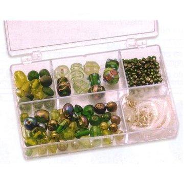 Schmuck Gestalten / Jewellery art Des billes de verre de Schmuckbox verts assortiment