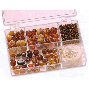 Schmuck Gestalten / Jewellery art Schmuckbox perle di vetro assortimento marrone