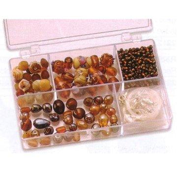 Schmuck Gestalten / Jewellery art Schmuckbox perles de verre assortiment brun