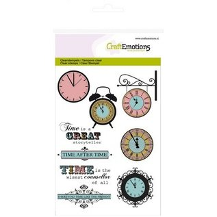 Craftemotions Transparent stamps Topic: Time