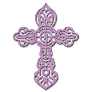 Spellbinders und Rayher Stampen en Embossing stencil, Spellbinders, Cross