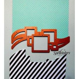 Spellbinders und Rayher Estampación y de la plantilla de grabación en relieve, Spellbinders, frontera con cuadrados