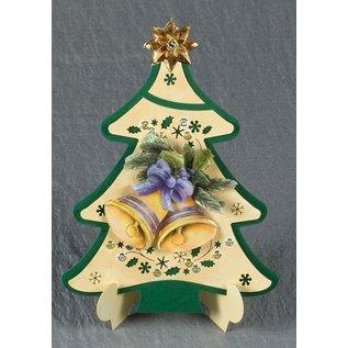 Exclusives Bastelset voor 2 kerstkaarten + kaarthouder