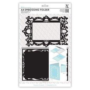 Docrafts / X-Cut A4 emboss.templ - vormige frame