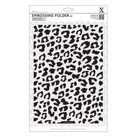 Docrafts / X-Cut A4 Prägeschablone - Leoparden-Druck