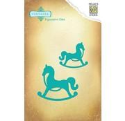 Nellie Snellen Cutting and embossing stencils Vintasia animals, 2 horses Schauckel