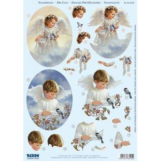 Bilder, 3D Bilder und ausgestanzte Teile usw... A4 gestempelde bladen, Engel