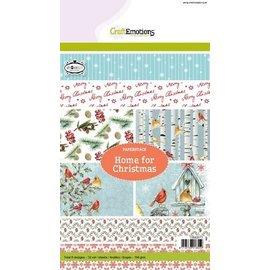 Karten und Scrapbooking Papier, Papier blöcke Designerblock A5, Home for Christmas
