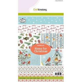 Karten und Scrapbooking Papier, Papier blöcke Hübscher Designerblock A5, Home for Christmas