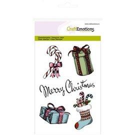 Crealies und CraftEmotions Tampons transparents, des motifs A6, Noël