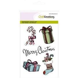 Crealies und CraftEmotions Transparent frimærke, A6, Julmotiver