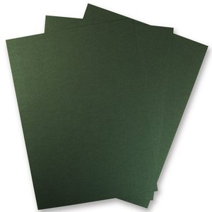 Karten und Scrapbooking Papier, Papier blöcke 1 sheet of metallic cardboard, in brilliant green! Ideal for embossing and punching!
