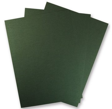 Karten und Scrapbooking Papier, Papier blöcke 1 sheet of metallic cardboard, in brilliant green! Ideal for embossing and punching!