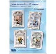 Joy!Crafts / Jeanine´s Art, Hobby Solutions Dies /  Bastelset: Fensterkarten, M.I.Hummel, Engelchen