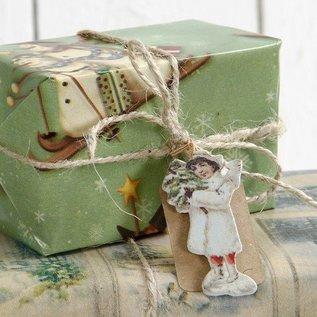 Embellishments / Verzierungen 6 little angels, made of wood