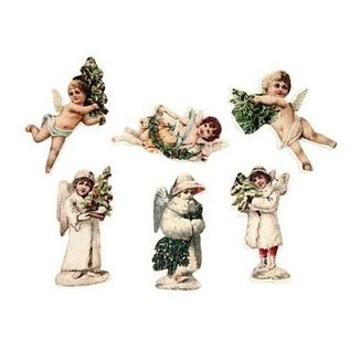 Embellishments / Verzierungen 6 Angel, van hout