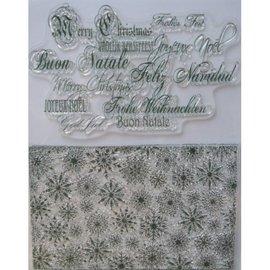 VIVA DEKOR (MY PAPERWORLD) Tampons transparents, cristaux de glace et des vœux de Noël en plusieurs langues