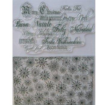VIVA DEKOR (MY PAPERWORLD) Gennemsigtige frimærker, iskrystaller og jul hilsener på mange sprog