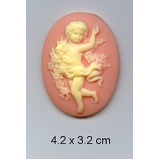 Embellishments / Verzierungen 1 cameo acrylic with Angels
