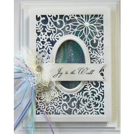 CREATIVE EXPRESSIONS und COUTURE CREATIONS Cutting and embossing stencils, Christmas motifs: decorative frame with snowflakes