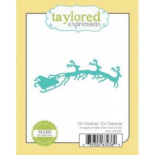 Taylored Expressions Taglio e goffratura stencil, slitta con le renne 3