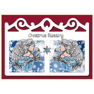 Bastelset: 4 Kerstkaarten