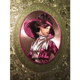 Bilder, 3D Bilder und ausgestanzte Teile usw... 3D-blad in metallic, mooie dames beelden met en zonder een hoed