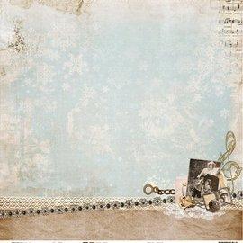 Designer Papier Scrapbooking: 30,5 x 30,5 cm Papier Diseñador Bow, 30,5 x 30,5 cm Invierno Recuerdos NR02