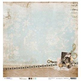 Designer Papier Scrapbooking: 30,5 x 30,5 cm Papier Designer Bow, 30,5 x 30,5 cm Hiver Souvenirs NR02