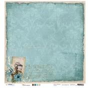 Designer Papier Scrapbooking: 30,5 x 30,5 cm Papier Designer Bow, 30,5 x 30,5 centimetri Inverno Ricordi Nr03