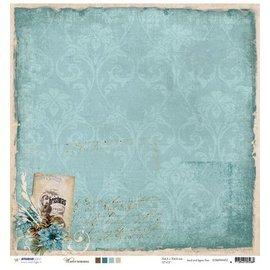 Designer Papier Scrapbooking: 30,5 x 30,5 cm Papier Designer Bow, 30,5 x 30,5 cm Hiver Souvenirs Nr03