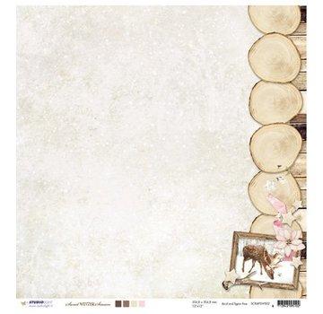 Designer Papier Scrapbooking: 30,5 x 30,5 cm Papier Designerbogen, 30,5 x 30,5cm sweet Winter Season Nr02