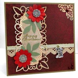 Marianne Design Kutte og prege sjablonger, dekorativ ramme + 2 blader