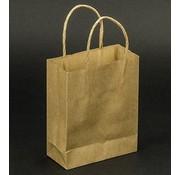 Objekten zum Dekorieren / objects for decorating 5 stærke mini håndværk Naturel papirposer