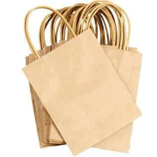 Objekten zum Dekorieren / objects for decorating 5 sterke mini ambachtelijke Naturel papieren zakken