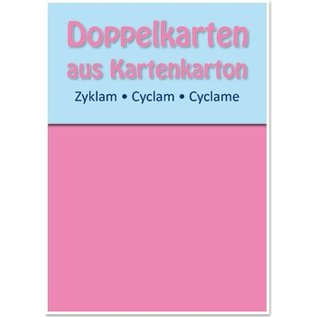 KARTEN und Zubehör / Cards 5 dubbele kaarten A6, zyklam, 250 g / m²