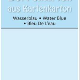 KARTEN und Zubehör / Cards 5 tarjetas dobles A6, azul agua, 250 g / m²