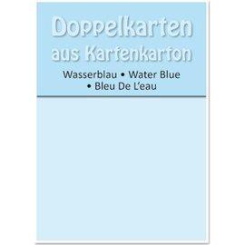 KARTEN und Zubehör / Cards 5 dobbelt kort A6, vand blå, 250 g / kvm