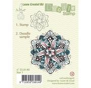 Leane Creatief - Lea'bilities und By Lene Gennemsigtige frimærker, Doodle stjerne
