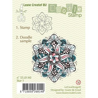 Leane Creatief - Lea'bilities und By Lene Transparante stempels, Star Doodle
