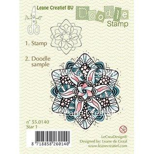 Leane Creatief - Lea'bilities und By Lene Transparent Stempel, Doodle Stern