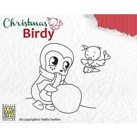 Docrafts / Papermania / Urban Gennemsigtige frimærker, jul Birdie - Teamwork