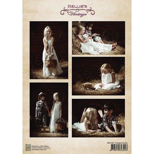 Nellie Snellen A4, nostalgic Bilderbogen