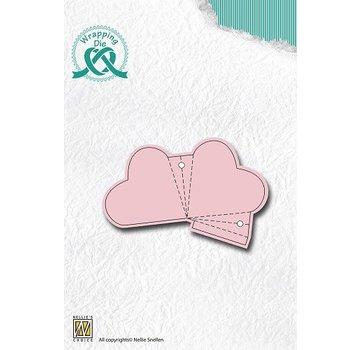 Nellie Snellen Ponsen en embossing sjabloon voor het ontwerpen van hart bay elks