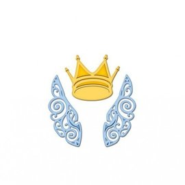 Spellbinders und Rayher Stanz- und Prägeschablonen, Die D-Lites, Flügel und Krone
